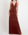 Sexy Deep V-Neckline English Rose Bridesmaid Dresses Split Side Velvet Sheath Party Dress for Bridesmaids
