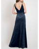 Sexy Deep V-Neckline Bridesmaid Dresses Split Side Velvet Sheath Party Dress for Bridesmaids