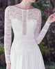 Boho 2019 Lace Wedding Dresses Long Sleeve Beach Wedding Gown Backless