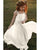Ivory Flower Girls Dresses A-line First Birth Party Gowns