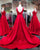2018 Popular Red Satin Prom Dresses V-Neckline Pageant Dress Long Prom Gowns Evening Dresses