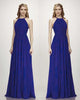 Popular Grape Bridesmaid Dresses Open Back Long Chiffon A-line Wedding Guest Party Gowns Floor Length