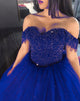 New Burgundy Quinceanera Dresses with Cap Sleeve Beaded Sweetheart Puffy Ball Gown Elegant Sweet 16 Dress