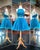 Sexy Short Two Piece Prom Dresses Turquoise Tulle Lace Homecoming Dress 2018 New