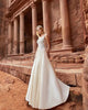 2018 Elegant Lace Wedding Dresses Scoop Delicate Satin A-line Wedding Gowns Stylish
