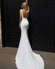 Simple Mermaid Wedding Dresses with Square Neckline Satin Wedding Gowns 2018 Fashion Style