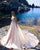 Gorgeous 2018 Pearls Pink Satin Wedding Dresses with Crystals Modest Sweetheart Bridal Wedding Gowns
