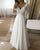 Sexy 2019 Beach Wedding Dresses with V-Neck Lace Sleeve Chiffon A-line Bridal Gowns