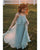 Morning Mist Flower Girls Dresses A-line First Birth Party Gowns 2020 new arrival