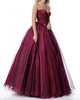 Sexy Burgundy Prom Dresses Sweetheart 2018 Organza Ruffles Long Prom Party Gowns Pageant Dress