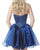 Sexy Short 2018 Homecoming Dresses Navy Blue Satin Organza Ruffles Cocktail Party Gowns Fashion
