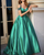 Off The Shoulder A line Blue Prom Dresses with Cap Sleeve Beaded 2018 Long Prom Party Gowns Pageant Dress
