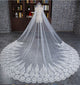 Delicate Lace Wedding Veils with Appliques for Brides 3 meters Length