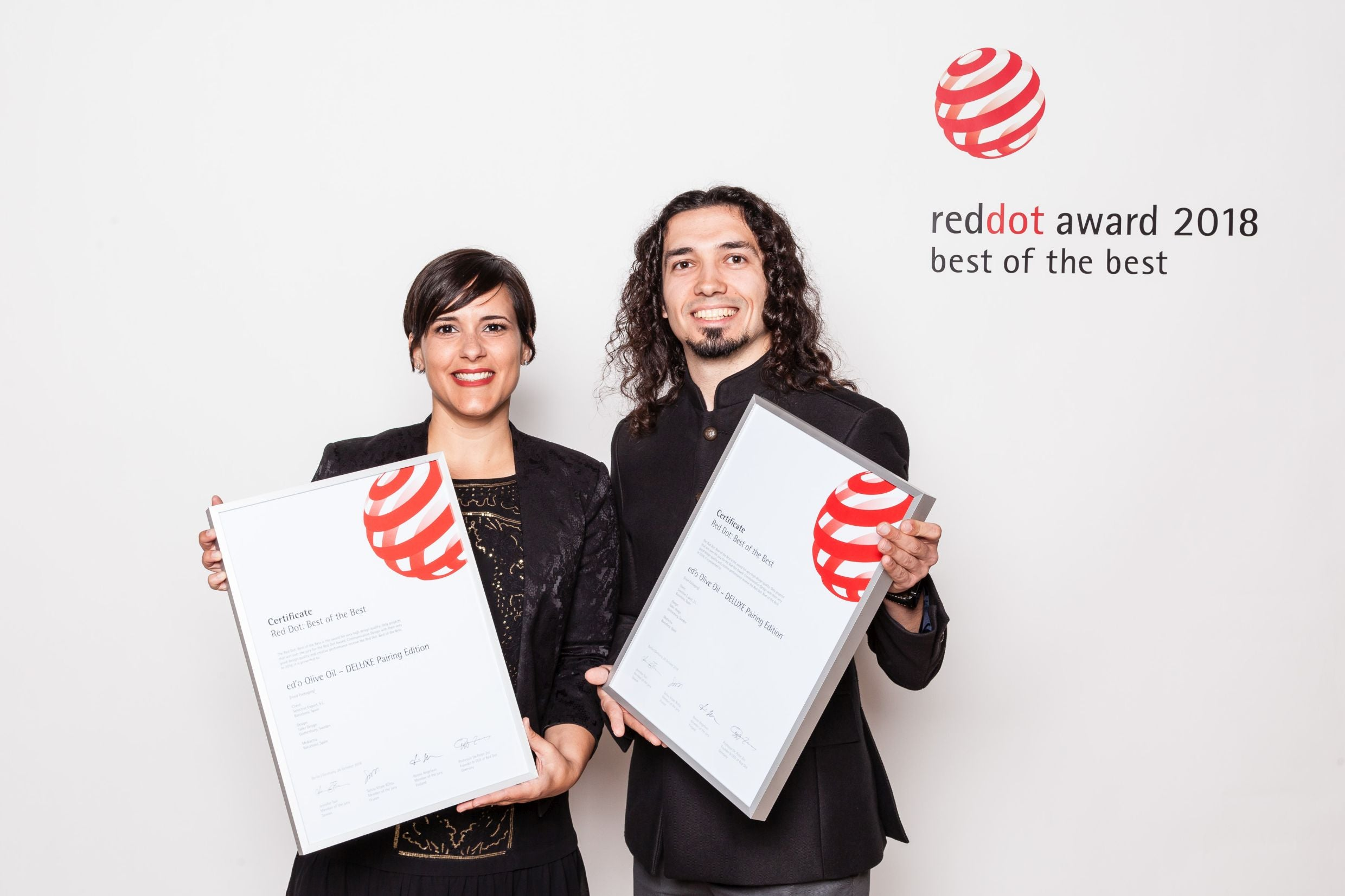 Ariadna Grau and Erhan Turkoglu_Founders of Selective Export and creatives behind edo Olive Oil_winners of Red Dot Best of the Best and Grand Prix