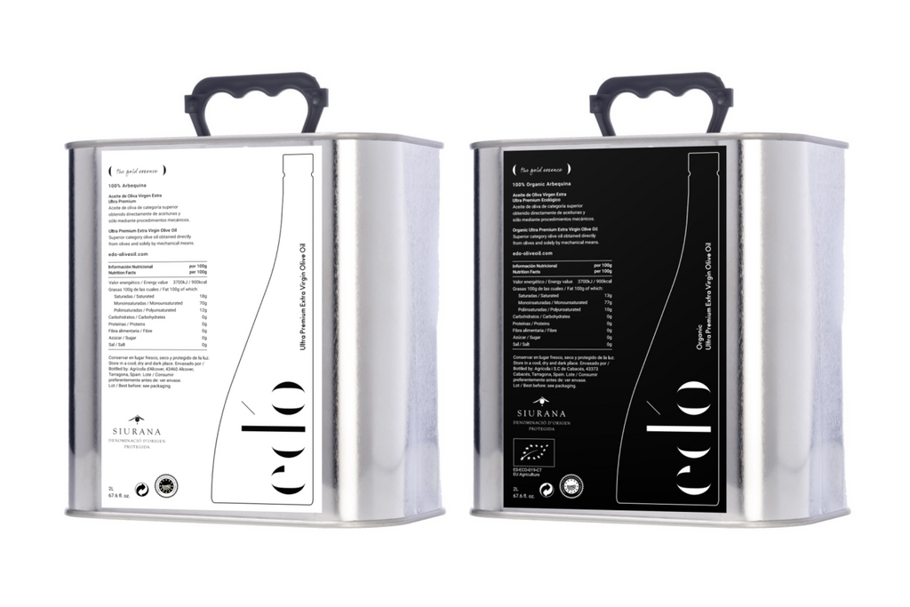 ed'o Olive Oil_2x2L cans for food pairing_PURE and ORGANIC