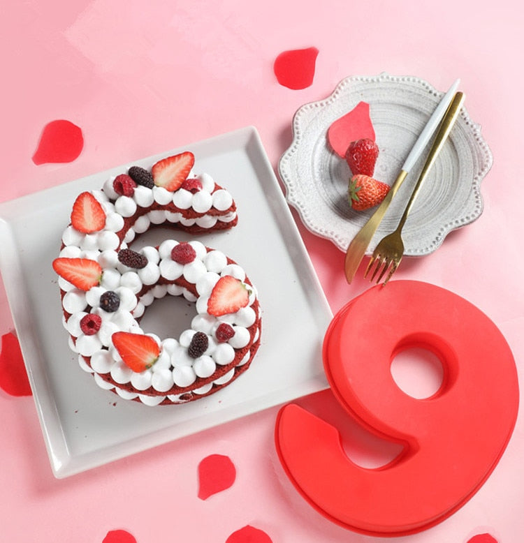 Moule Silicone Number Cake