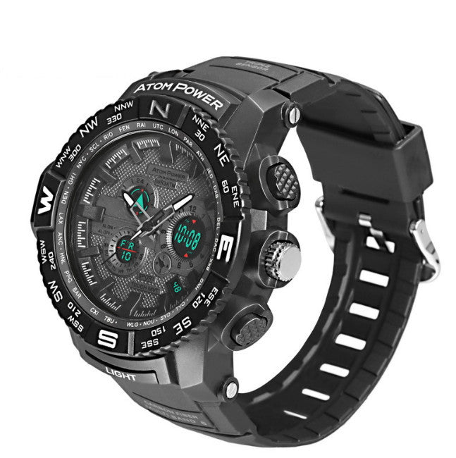 30M Waterproof Army Watches Dual Display LED Sports Watches