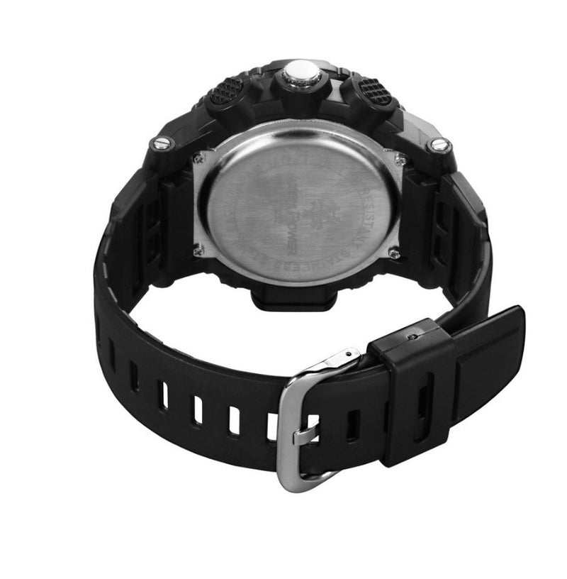 30M Waterproof Army Watches Dual Display LED Sports Military Watches