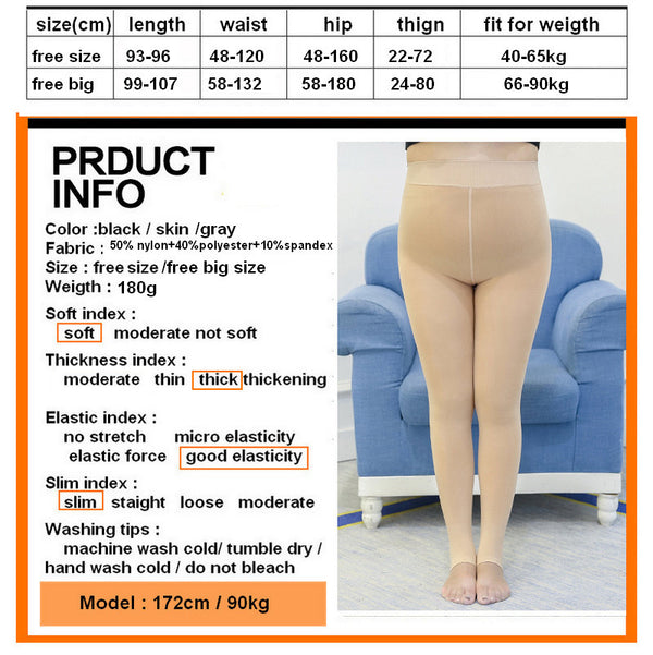 Women Plus size Tight  Lady Footed Pantyhose Foot Seamless Stockings underwear 5XL