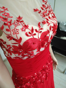 Plus Size Evening Dress long lace mesh Women Dresses