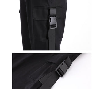 Cargo Pants Womens Casual Joggers High Waist Loose Female Trousers