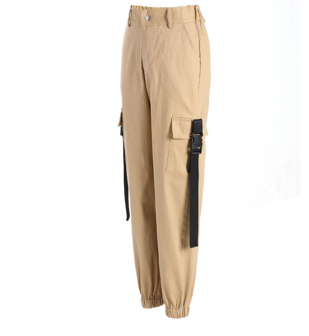 Cargo Pants Womens Casual Joggers  Loose Female Trousers