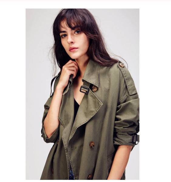 Fashion Coat Green for Outdoor Trench Coat Parka
