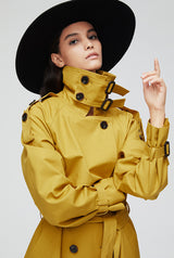 Top trench coat women double breasted  Coat