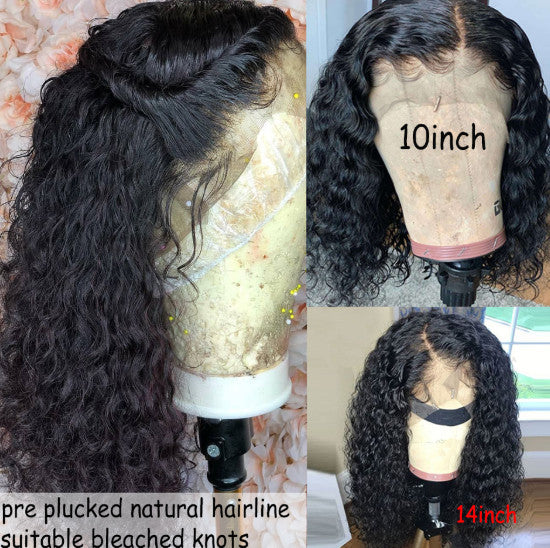 Wigs Pre Plucked With Baby Hair Brazilian Remy Hair Short Bob Lace Front Wig