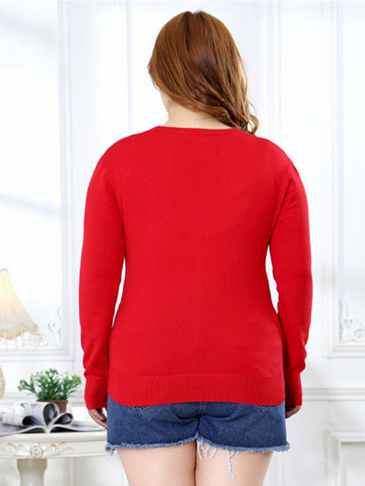 Women knitted Cardigan full sleeve 6XL v neck plus size Sweater