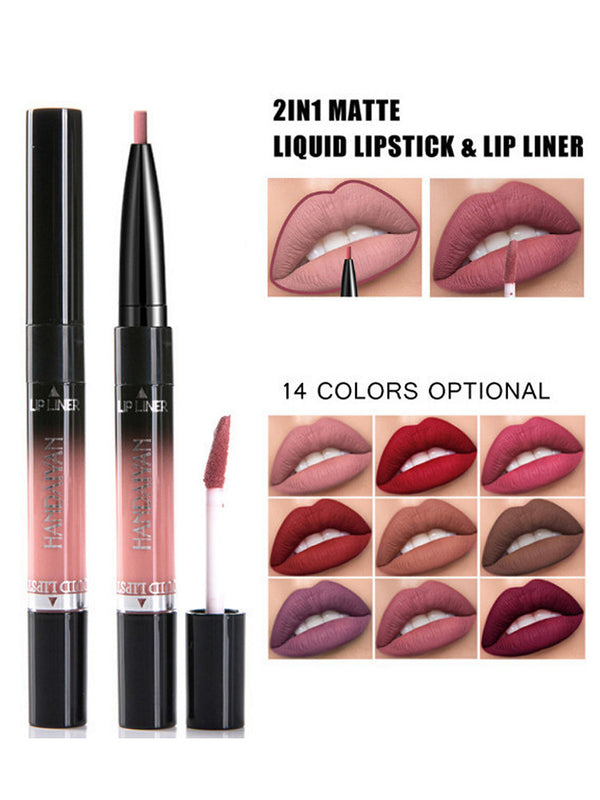 Liquid Lip Lipstick Lip Liner Long Lasting Pigments Nude