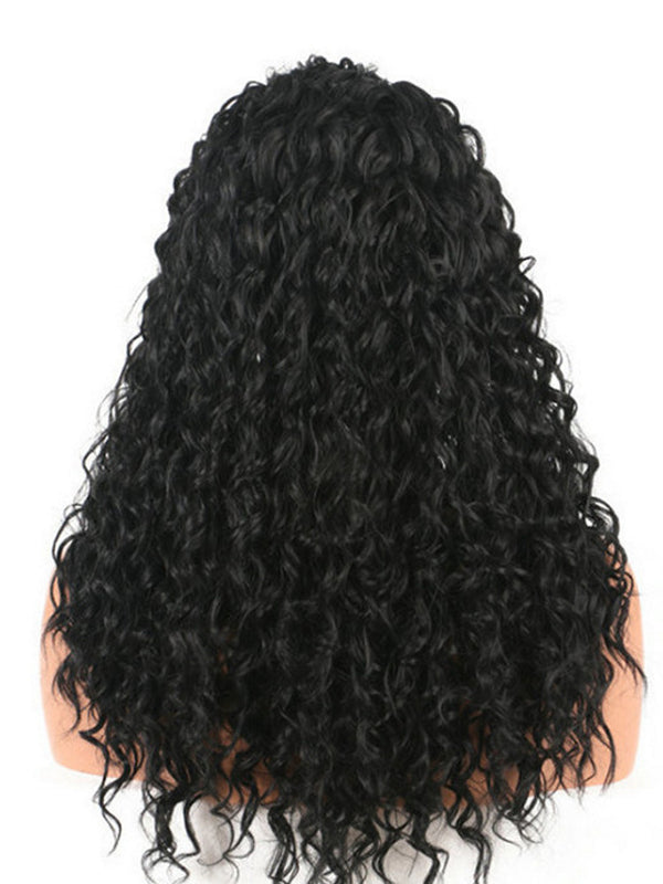 Lace Front Wig Long Loose Curly Glueless for Women Heat Resistant Fiber