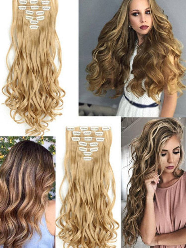 Hair Extension Wavy Curly Messy Donut Chignons Hair Piece Wig