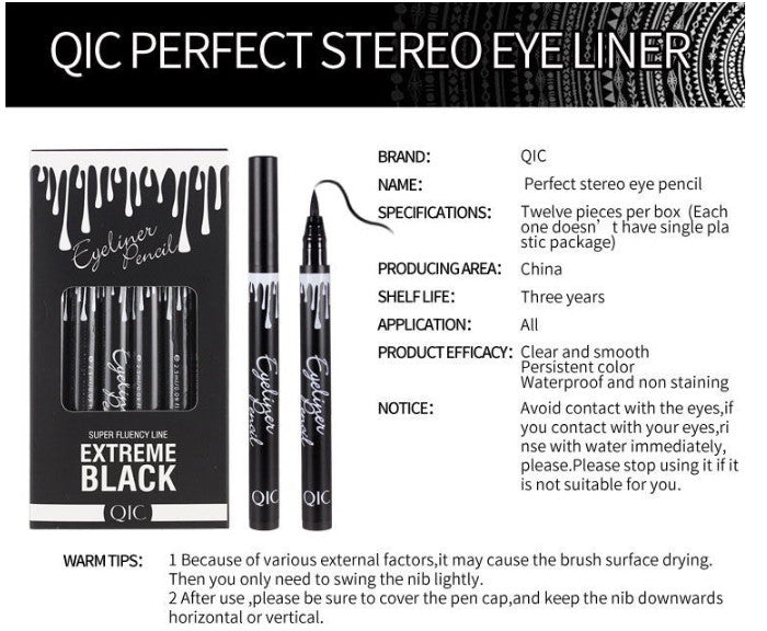 Liquid Eyeliner Pencil Eyes Makeup Long-lasting Eye Liner Pen