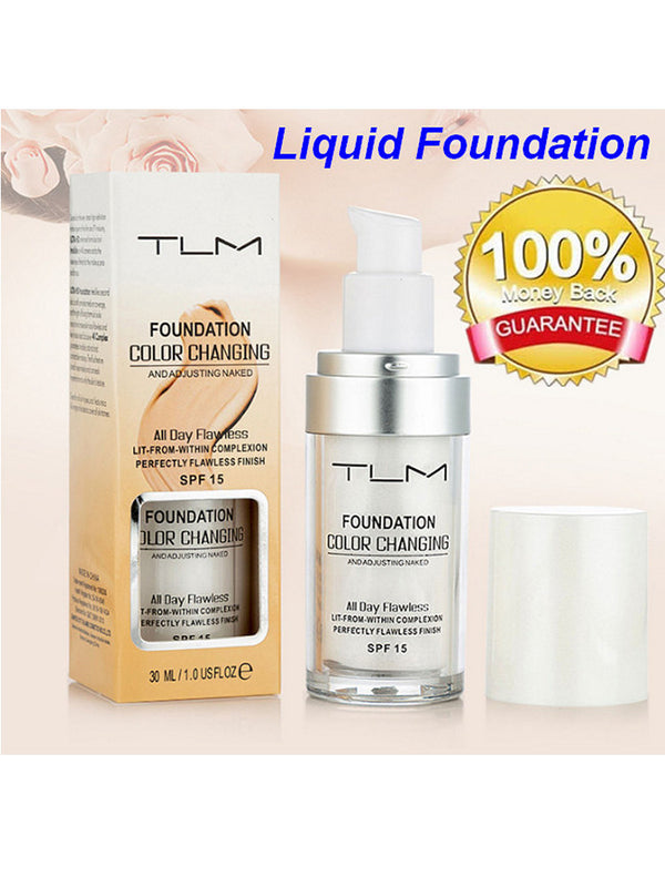 TLM Flawless Foundation Makeup Base Nude Face Moisturizing  SPF15
