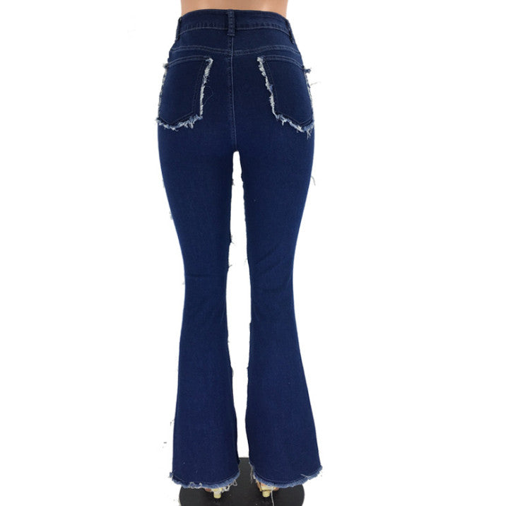 Women's Fashion Jeans Patchwork Push Up Butt Lifting