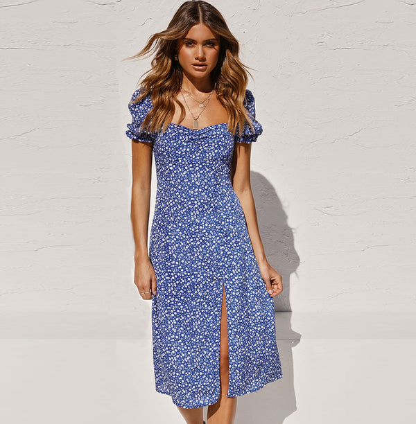 Womens Printing Dress Maxi Boho Fashion Dot Designer Sexy Beach Dresses