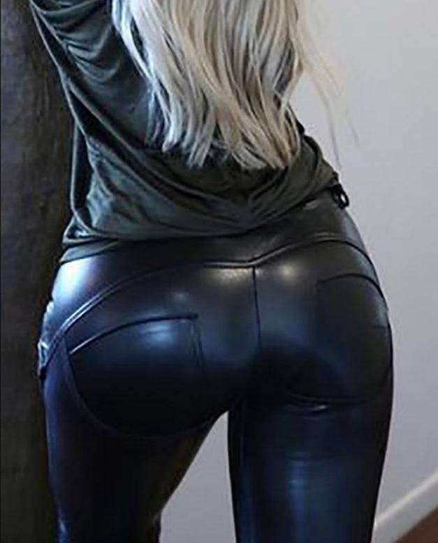Faux Leather Leggings PU Legging for Women