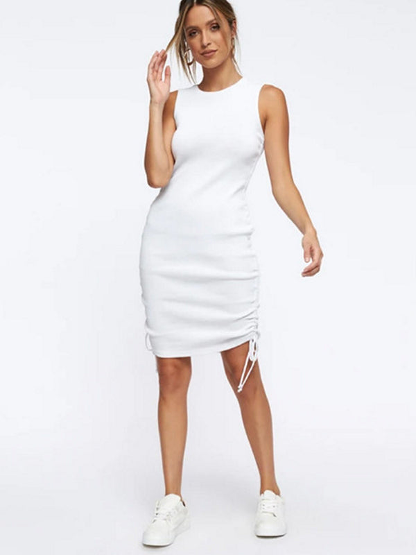 Womens Bodycon Dress Rib Knit Daily Dress