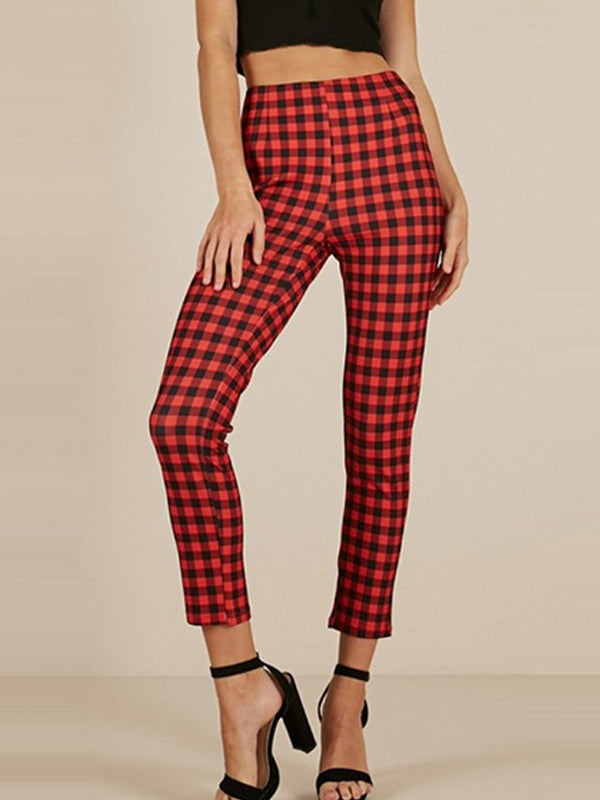 Harem-pants women Plaid Pants Casual