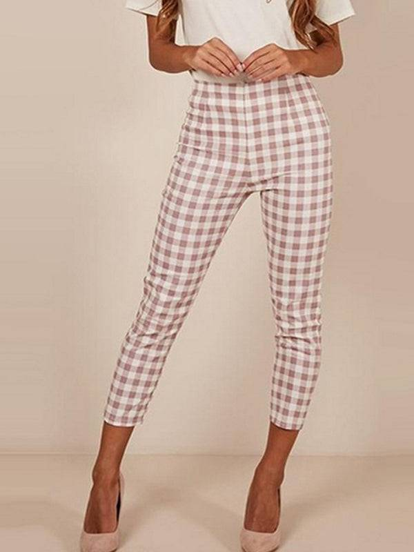 Harem Pants  Fashion Plaid