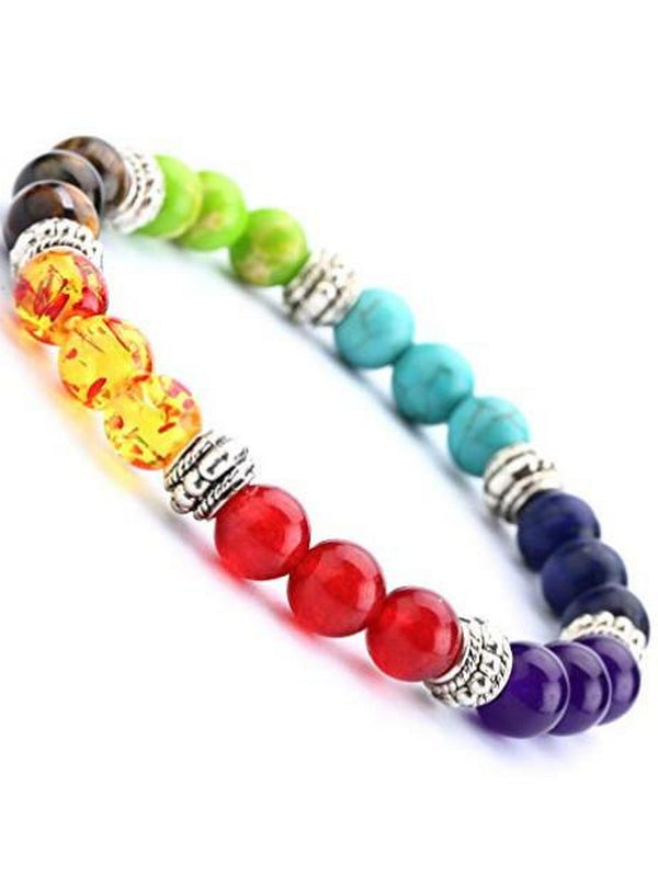 Elastic Natural Stone Yoga Beads Bracelet Bangle