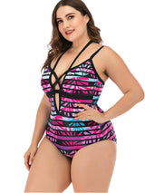Womens  Swimsuits Swimwear One Piece L-4XL Rose Red