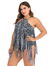Curve Plus Size Swimsuits Swimwear One Piece L-4XL Tassels