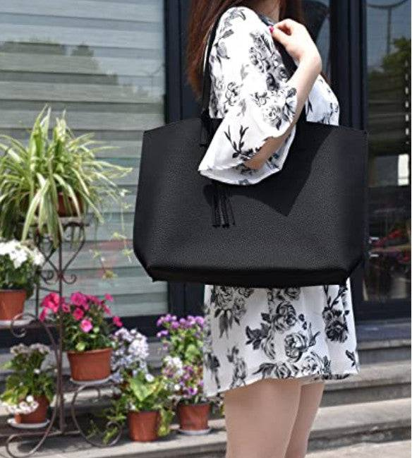 Women's Bags Soft Faux Leather Tote Shoulder Bag