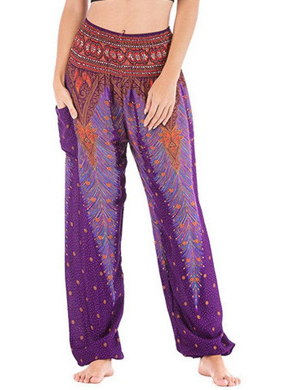 Floral Harem Pants for Women Yoga