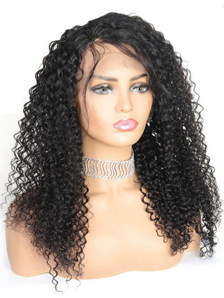 Deep Curly Wigs 10A Human Hair Wigs 360 full lace Front wig
