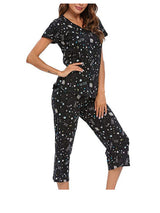 Women's Sleepwear Tops with Capri Pants Pajama Sets pajamas