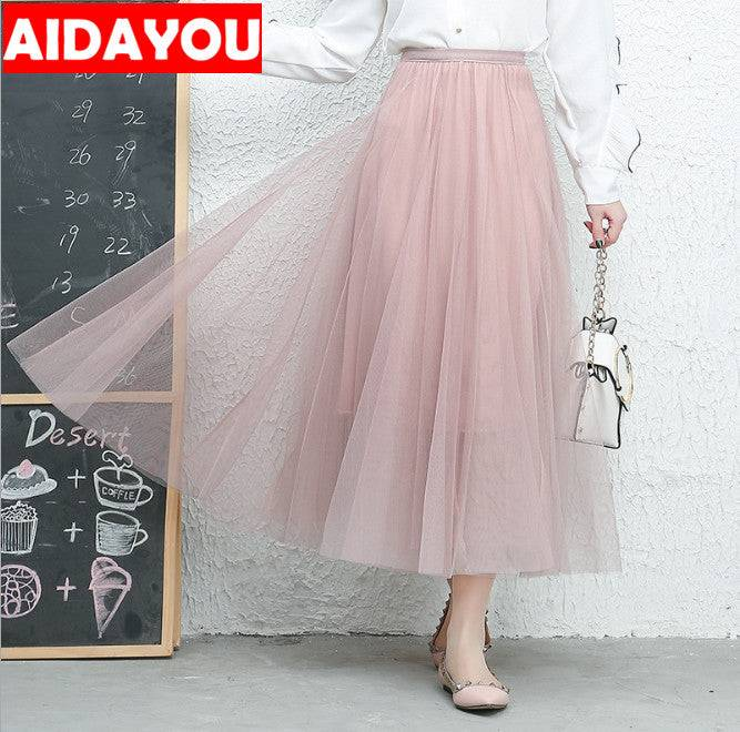 Skirt Waist Ballet Layered Princess Mesh Tulle Midi Tulle Party Prom Skirt Dress
