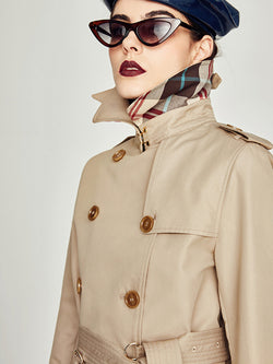 Fashion Cool Trench coat Cotton  Waterproof Parka Coat